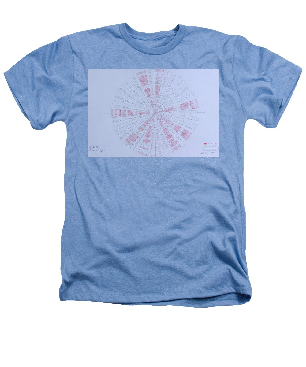 Prime Heathers T-Shirt featuring the drawing Prime Number Pattern P Mod 30 by Jason Padgett