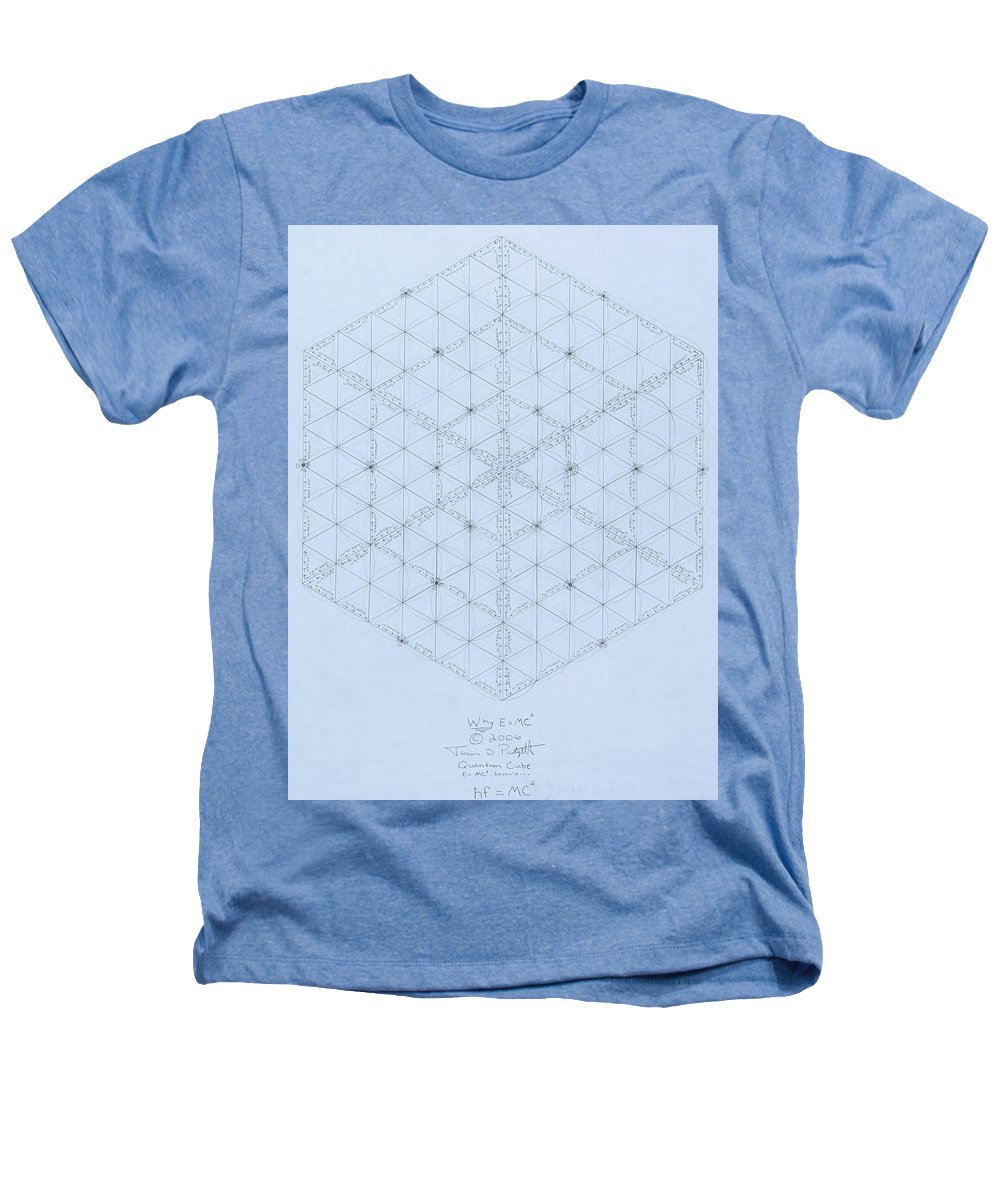 Energy Heathers T-Shirt featuring the drawing Why Energy Equals Mass Times The Speed Of Light Squared by Jason Padgett