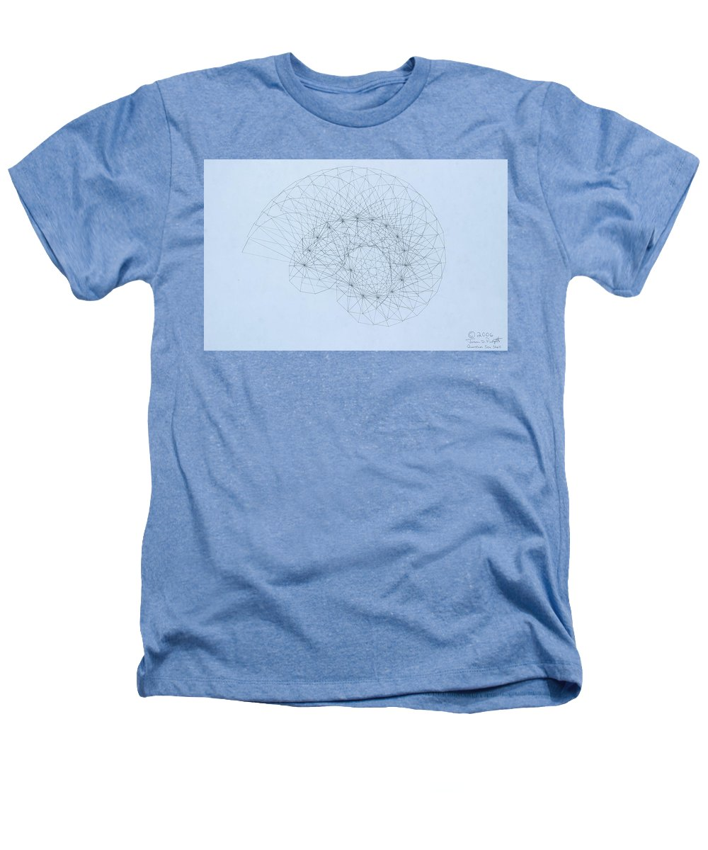 Jason Padgett Heathers T-Shirt featuring the drawing Quantum Nautilus by Jason Padgett