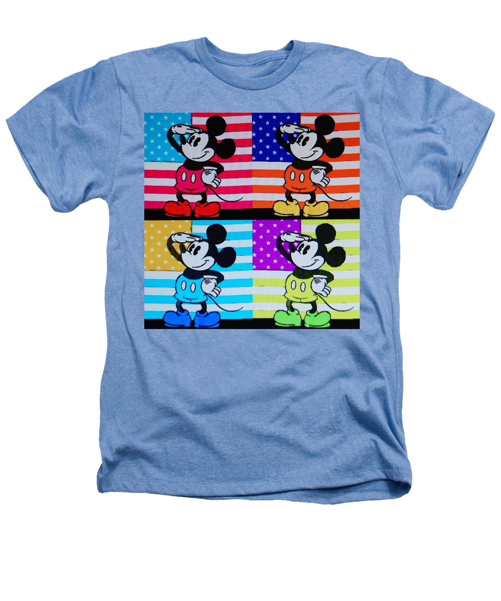 Mickey Mouse Heathers T-Shirt featuring the photograph American Mickey by Rob Hans