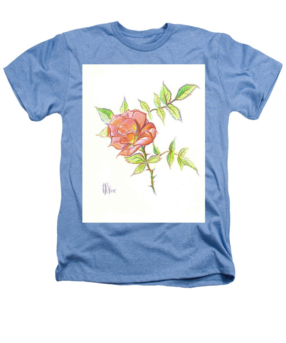 A Rose In Brigadoon Heathers T-Shirt featuring the drawing A Rose In Brigadoon by Kip DeVore