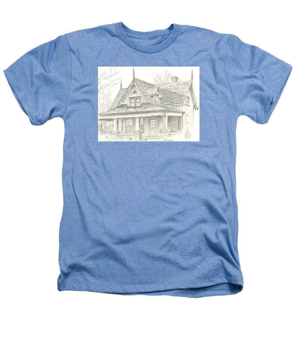 American Home Heathers T-Shirt featuring the drawing American Home by Kip DeVore