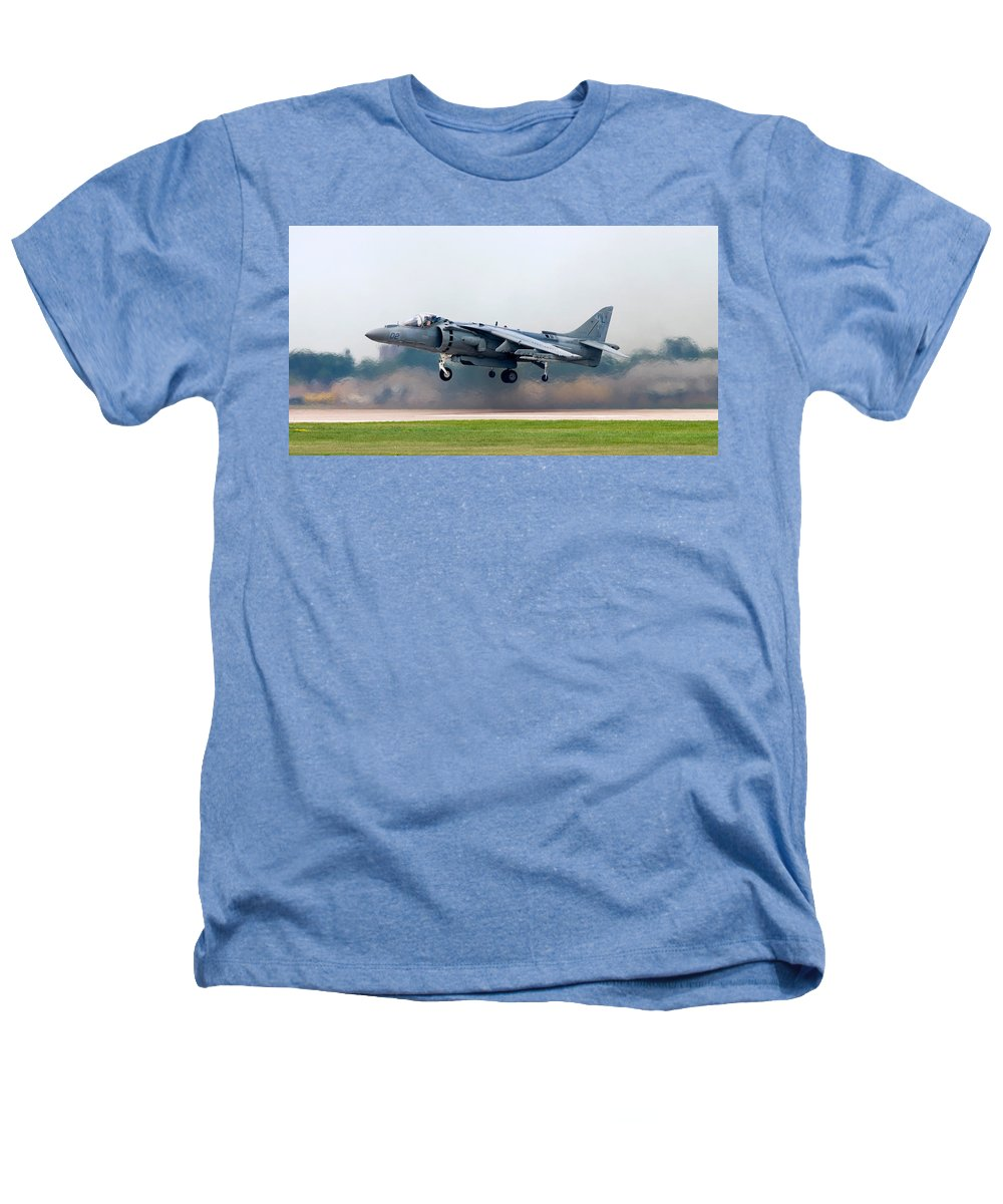 3scape Heathers T-Shirt featuring the photograph Av-8b Harrier by Adam Romanowicz