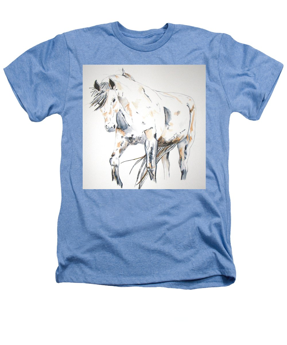 Horse Heathers T-Shirt featuring the painting Beauty by Crystal Hubbard