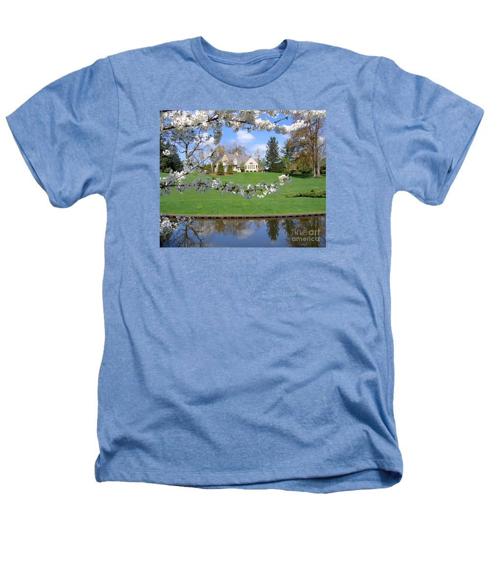 Spring Heathers T-Shirt featuring the photograph Blossom-framed House by Ann Horn