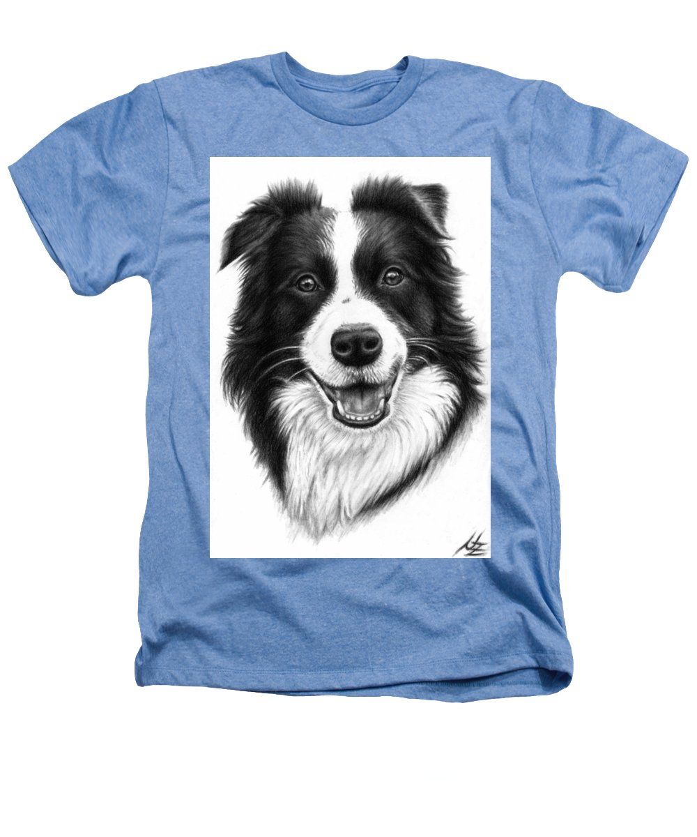 Dog Heathers T-Shirt featuring the drawing Border Collie by Nicole Zeug
