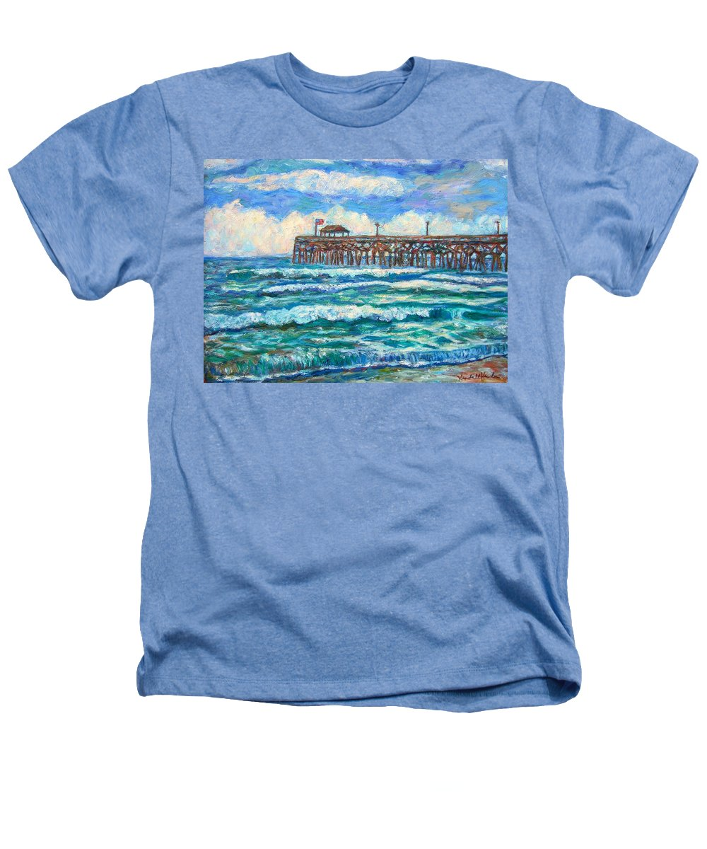 Shore Scenes Heathers T-Shirt featuring the painting Breakers At Pawleys Island by Kendall Kessler