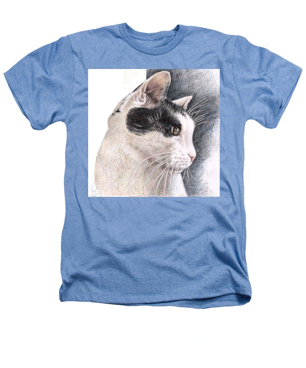 Cat Heathers T-Shirt featuring the drawing Cats View by Nicole Zeug