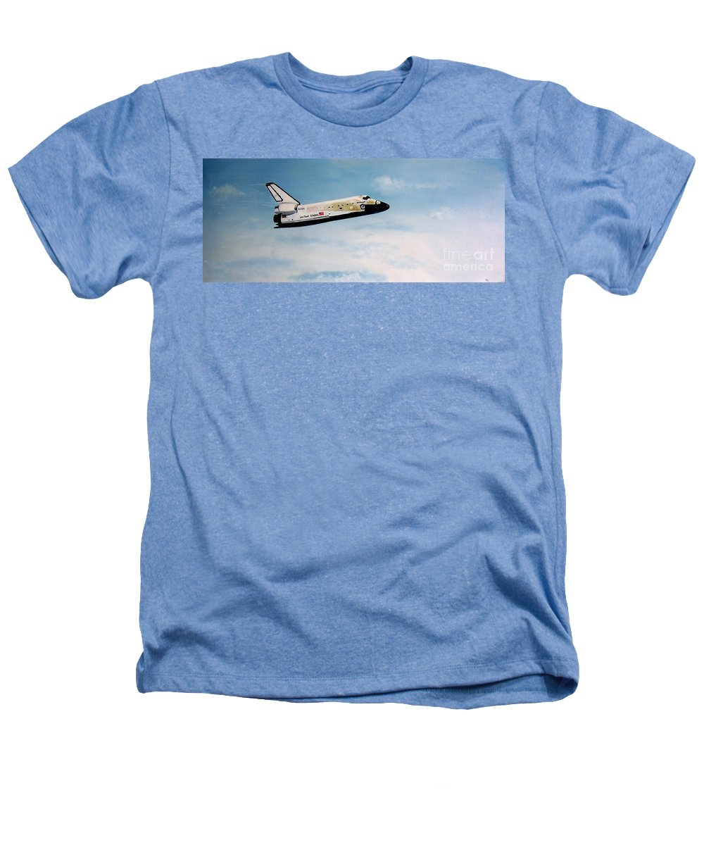 Shuttle Heathers T-Shirt featuring the painting Challenger by Murphy Elliott