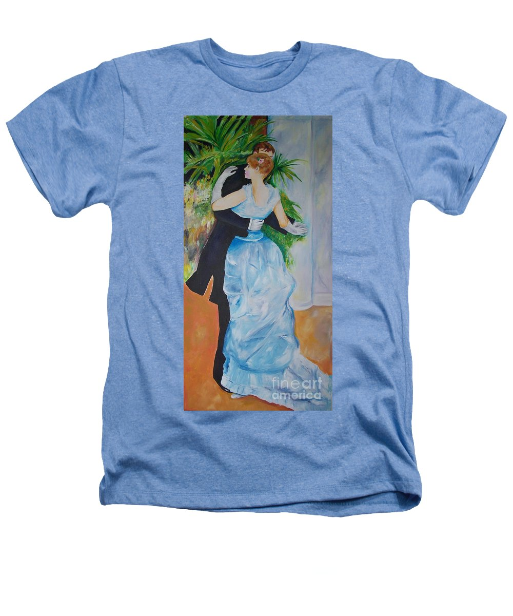 Lavender Heathers T-Shirt featuring the painting Dance In The City by Eric Schiabor