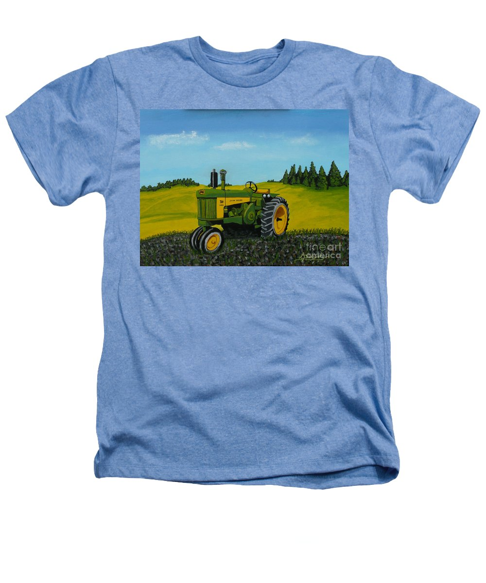 John Deere Heathers T-Shirt featuring the painting Dear John by Anthony Dunphy