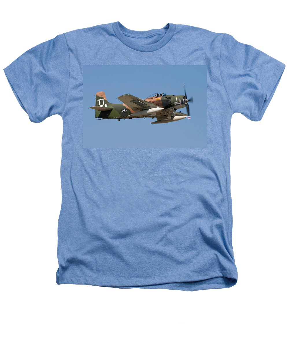 3scape Heathers T-Shirt featuring the photograph Douglas Ad-4 Skyraider by Adam Romanowicz