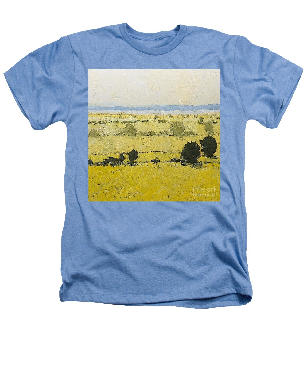 Landscape Heathers T-Shirt featuring the painting Dry Grass by Allan P Friedlander