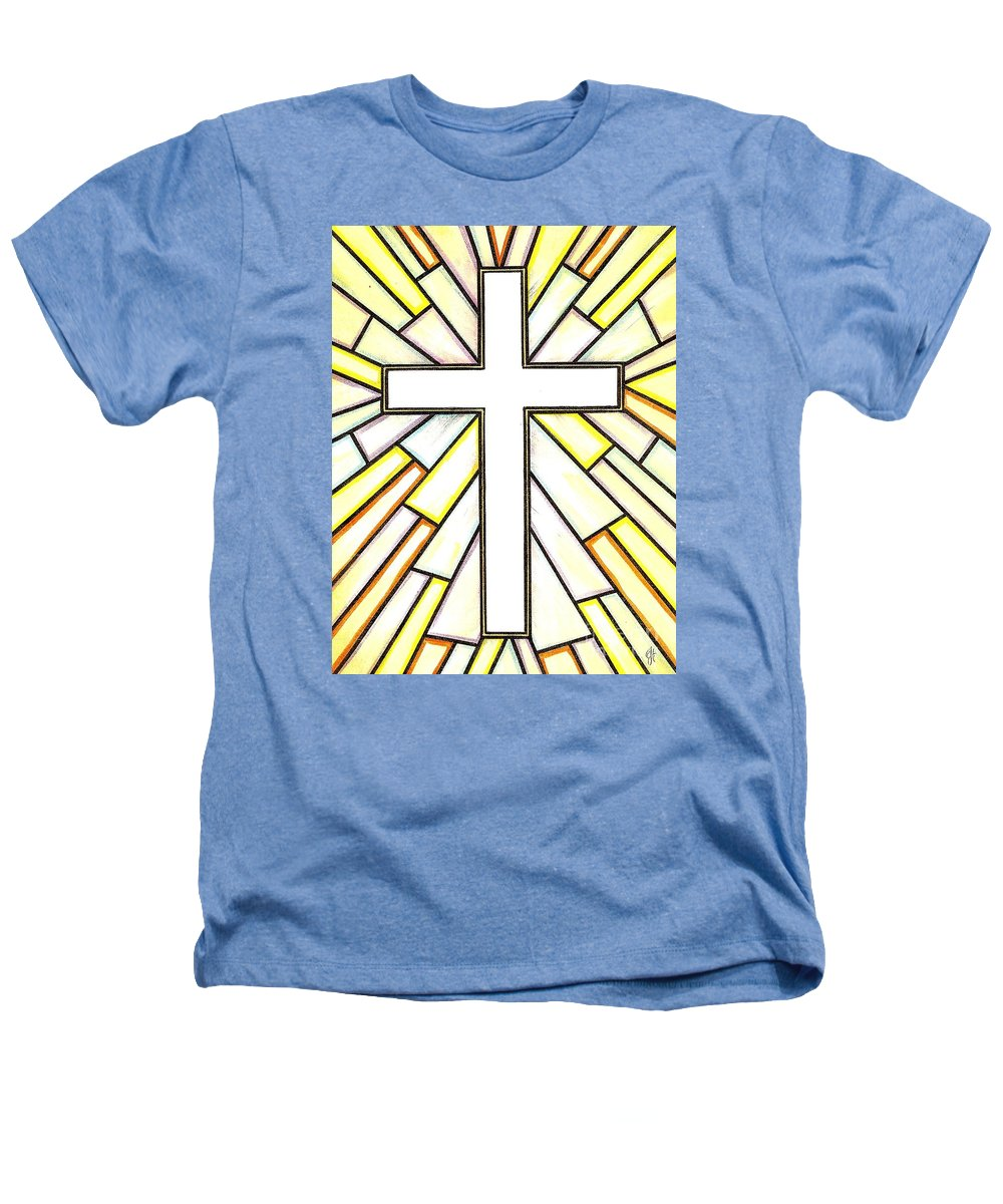 Cross Heathers T-Shirt featuring the painting Easter Cross 3 by Jim Harris