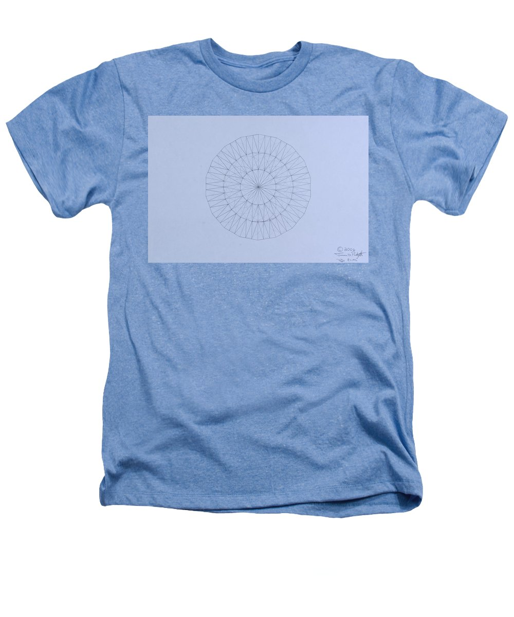 Jason Padgett Heathers T-Shirt featuring the drawing Energy Wave 20 Degree Frequency by Jason Padgett