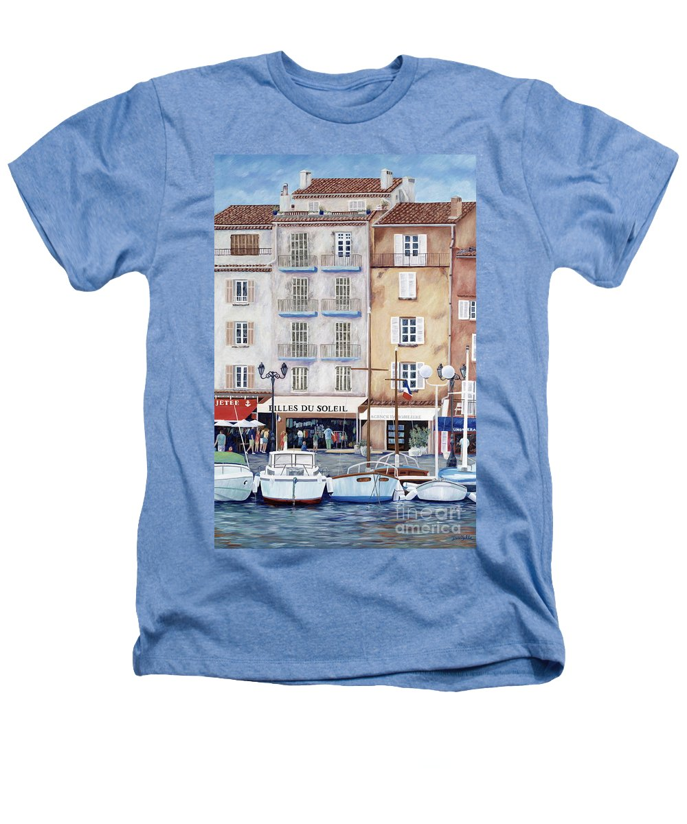 St. Tropez Heathers T-Shirt featuring the painting Filles Du Soleil by Danielle Perry