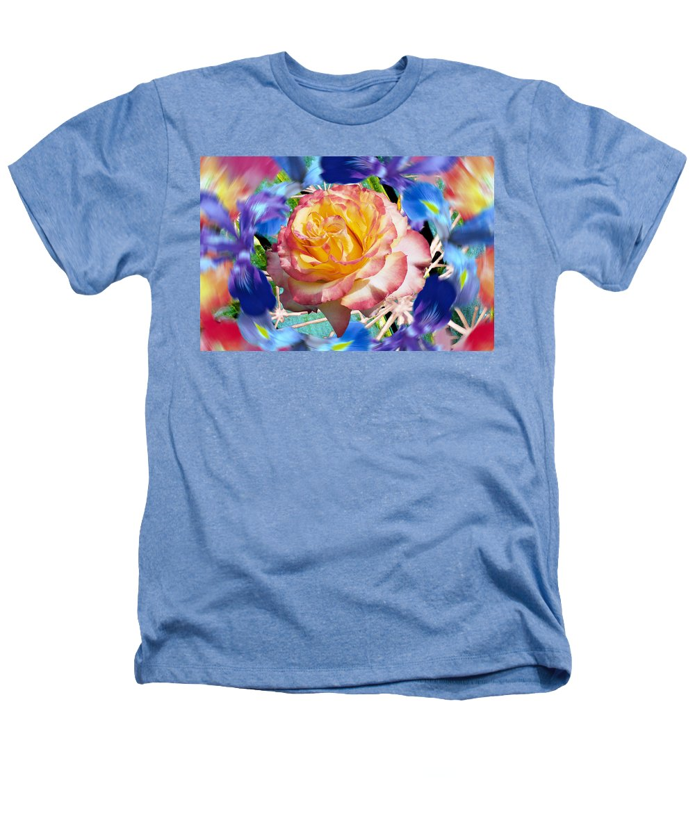 Flowers Heathers T-Shirt featuring the digital art Flower Dance 2 by Lisa Yount