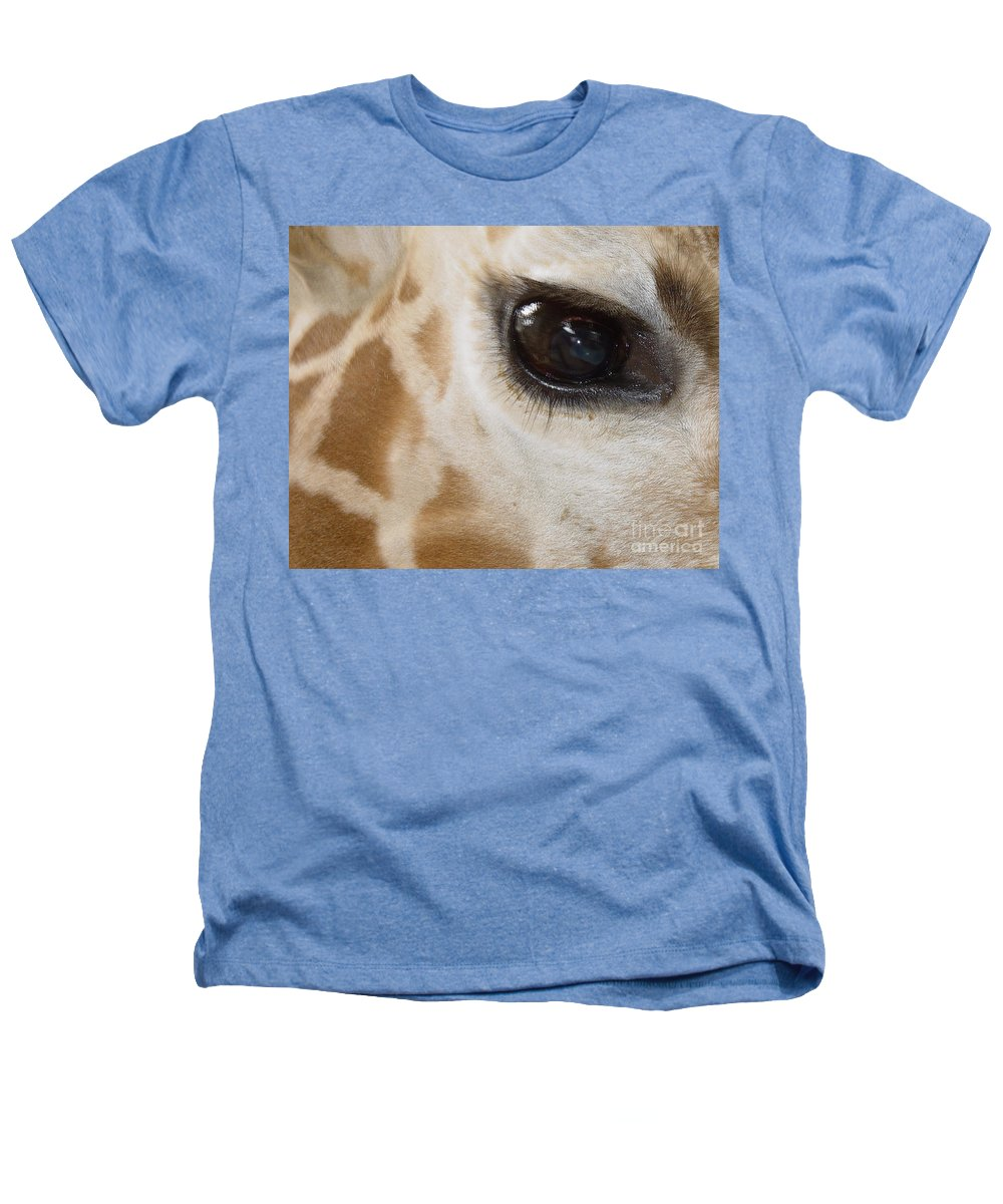Giraffe Heathers T-Shirt featuring the photograph Giraffe Eye by Heather Coen