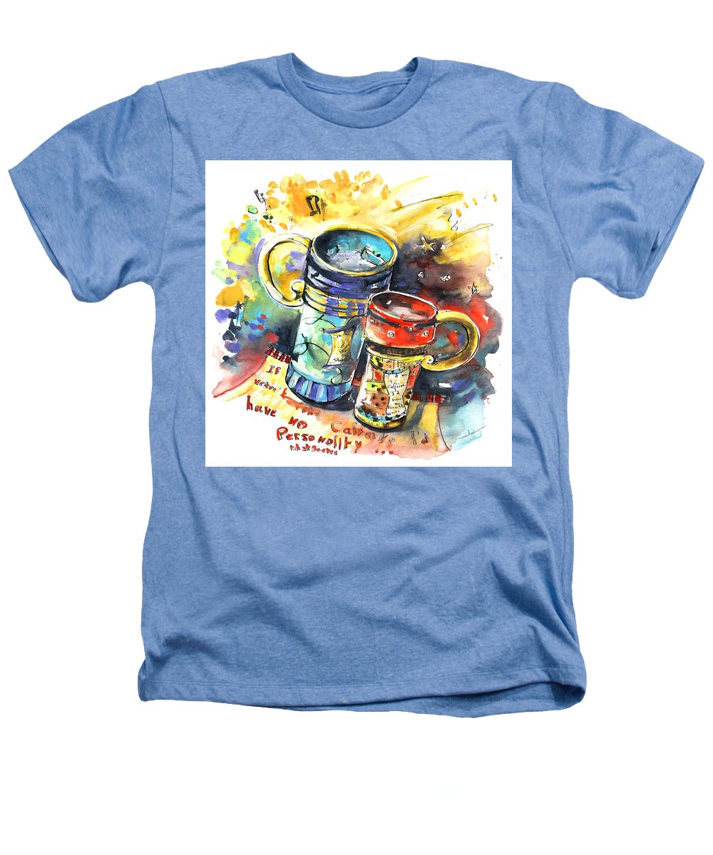 Cafe Crem Heathers T-Shirt featuring the painting If It Were Not For Caffeine by Miki De Goodaboom