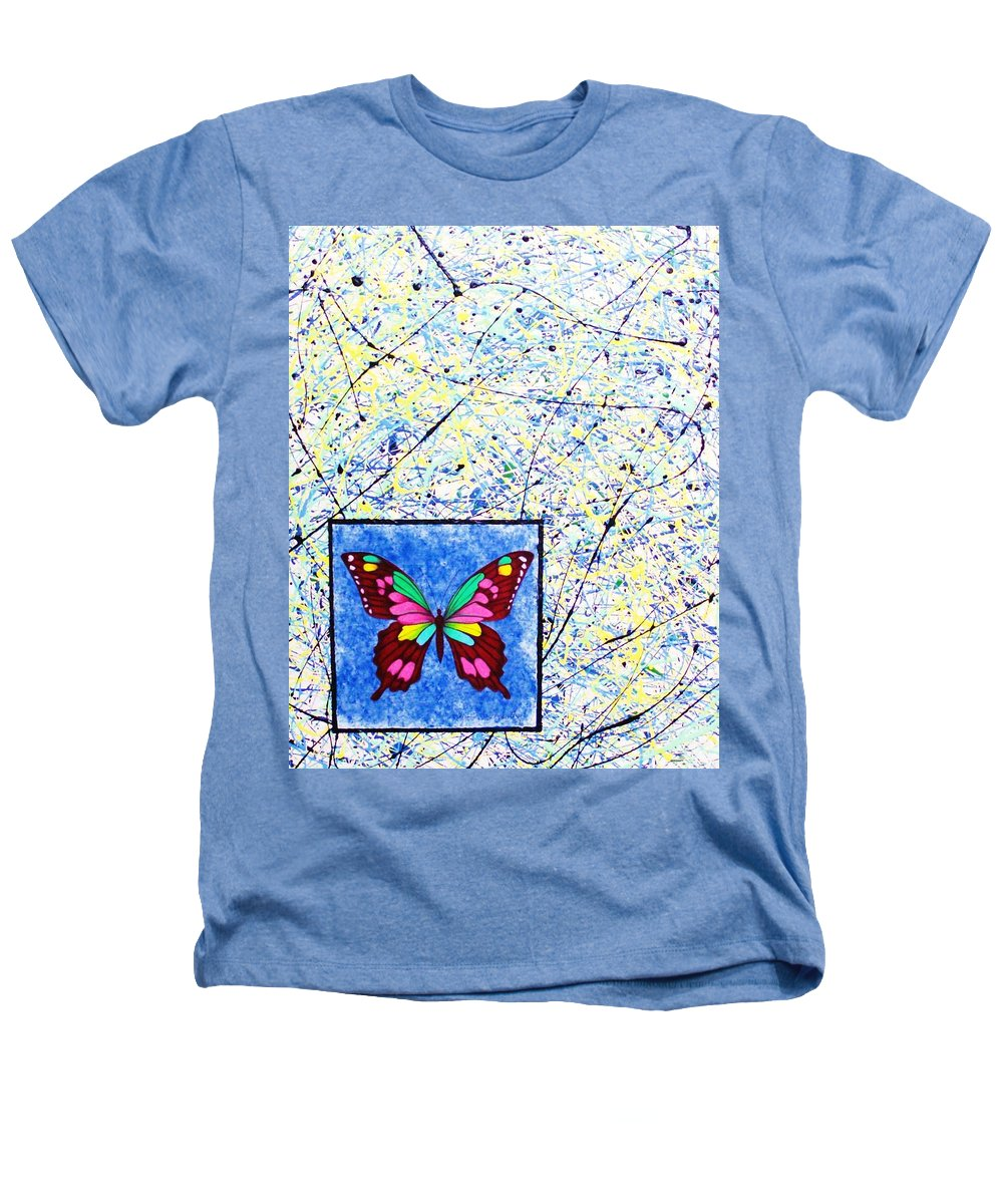 Abstract Heathers T-Shirt featuring the painting Imperfect I by Micah Guenther