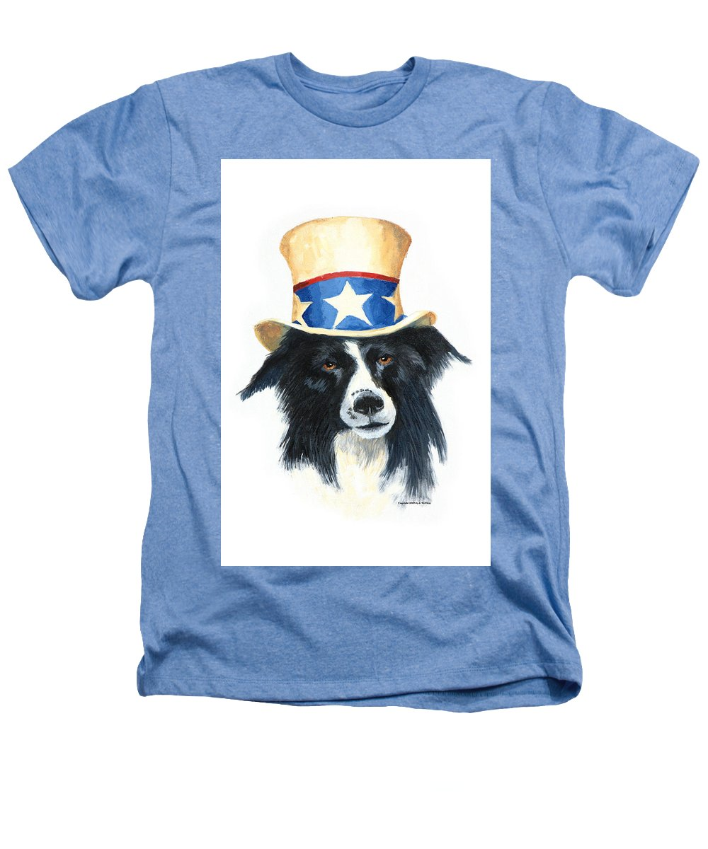 Dog Heathers T-Shirt featuring the painting In Dog We Trust by Jerry McElroy