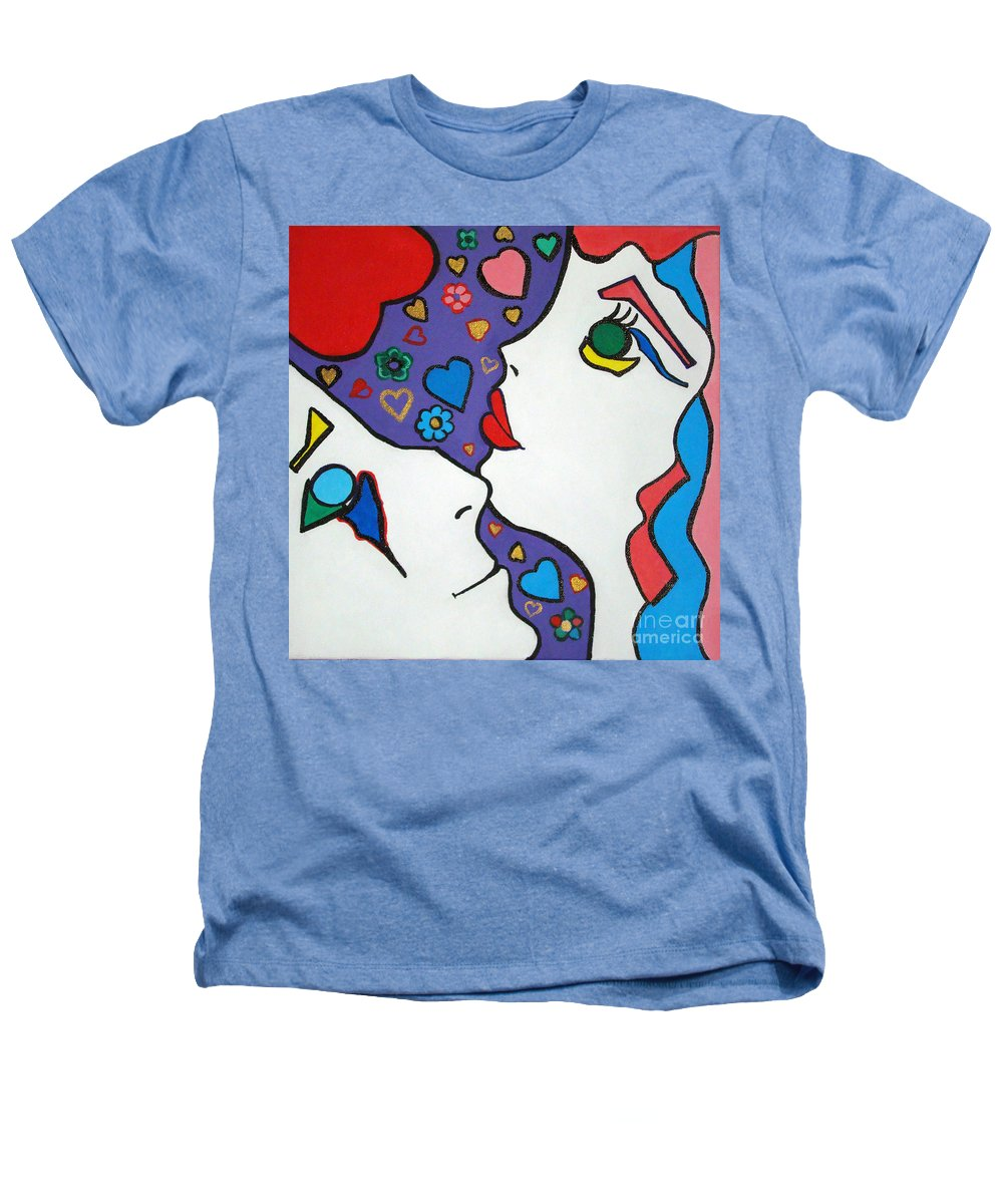 Pop-art Heathers T-Shirt featuring the painting In Love by Silvana Abel