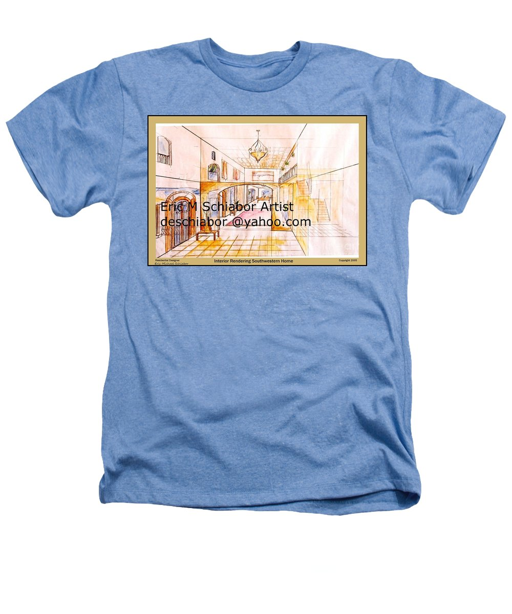 Interior Heathers T-Shirt featuring the painting Interior Perspective by Eric Schiabor