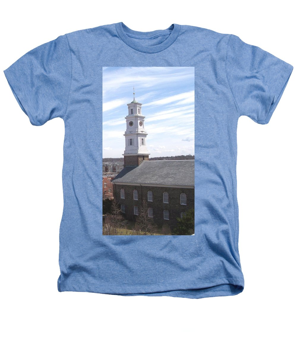 Architecture Heathers T-Shirt featuring the photograph Into The Blue by Pharris Art