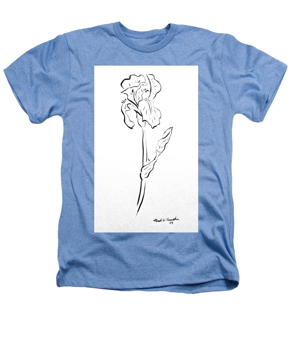 Abstract Heathers T-Shirt featuring the drawing Iris II by Micah Guenther