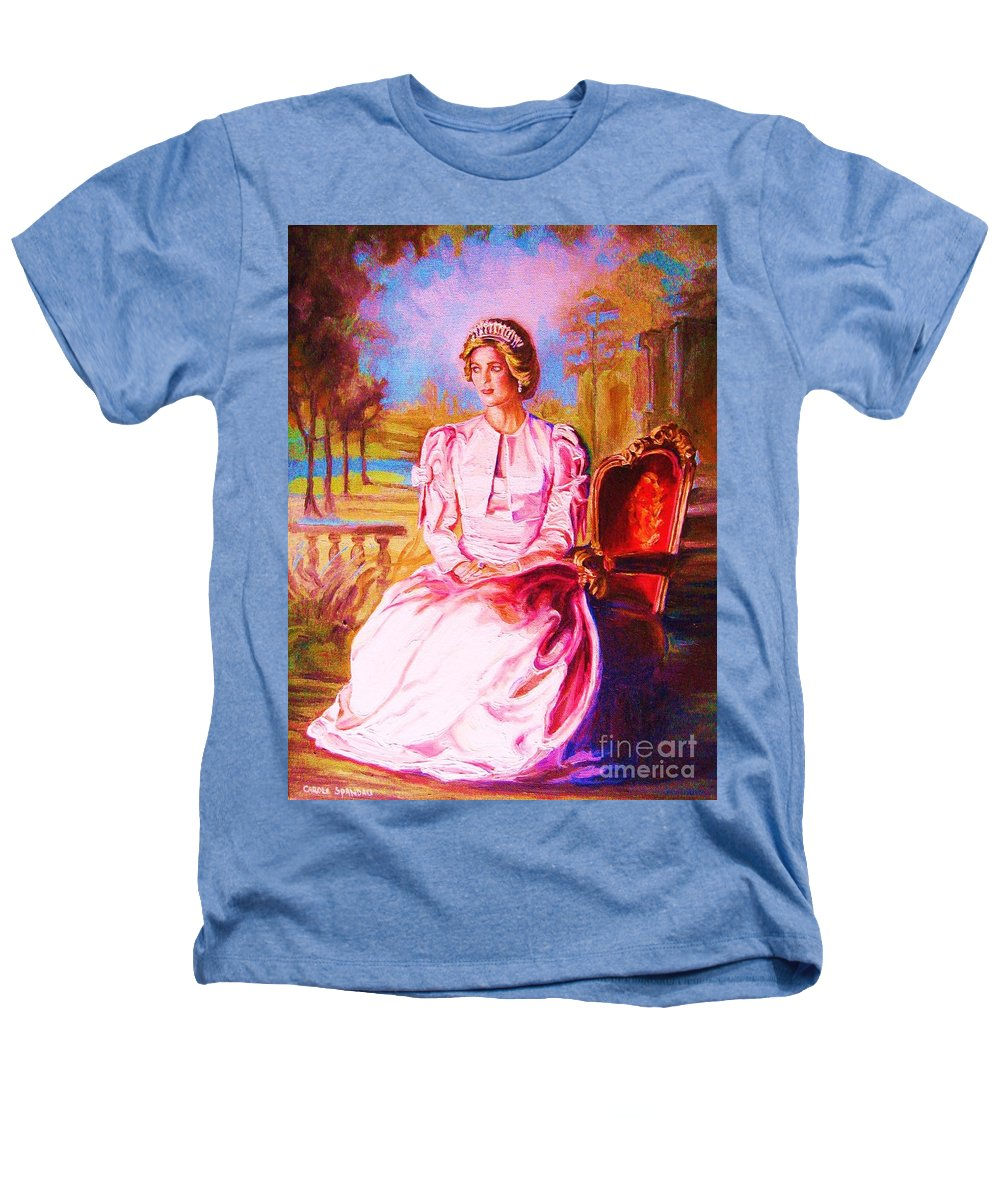 Princess Diana Heathers T-Shirt featuring the painting Lady Diana Our Princess by Carole Spandau