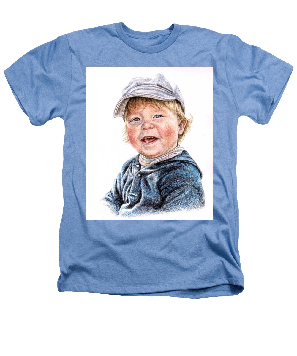 Boy Heathers T-Shirt featuring the drawing Little Boy by Nicole Zeug