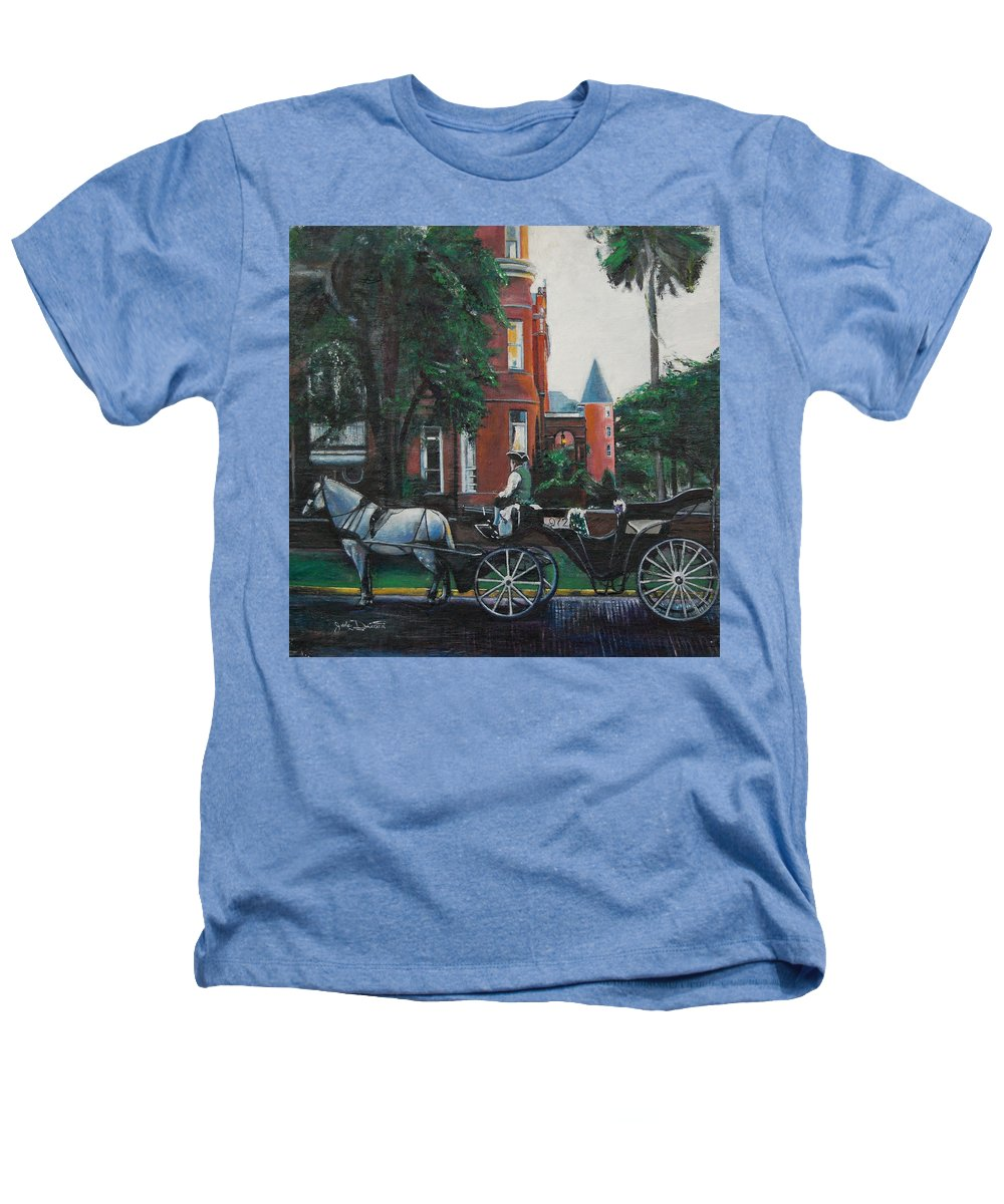 Heathers T-Shirt featuring the painting Mansion On Forsythe Savannah Georgia by Jude Darrien
