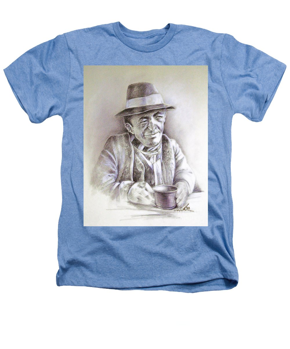 Portrait Michael Anderson Heathers T-Shirt featuring the painting Michael J Anderson by Miki De Goodaboom