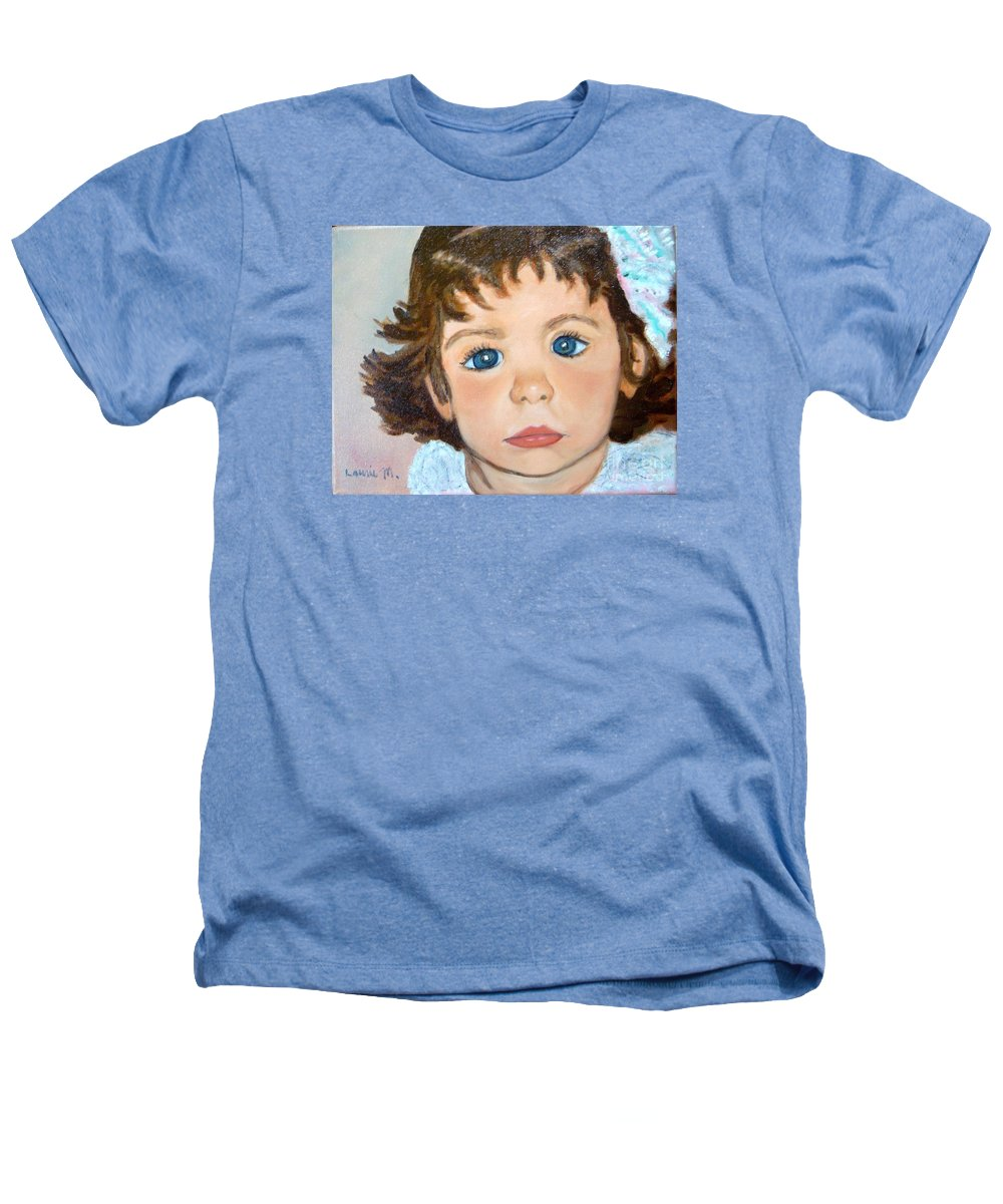 Portrait Heathers T-Shirt featuring the painting Nikki by Laurie Morgan