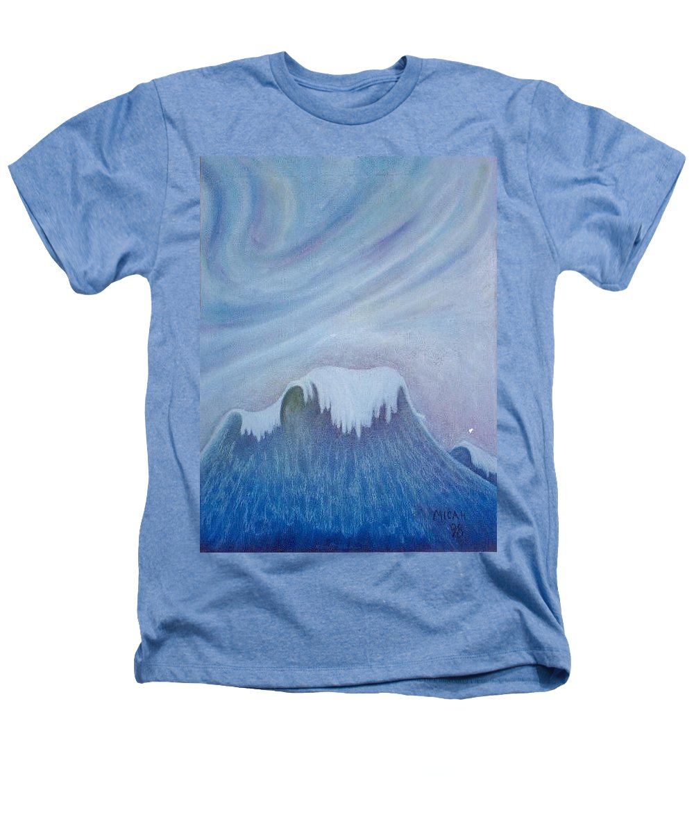 Ocean Heathers T-Shirt featuring the painting Ocean Wave by Micah Guenther