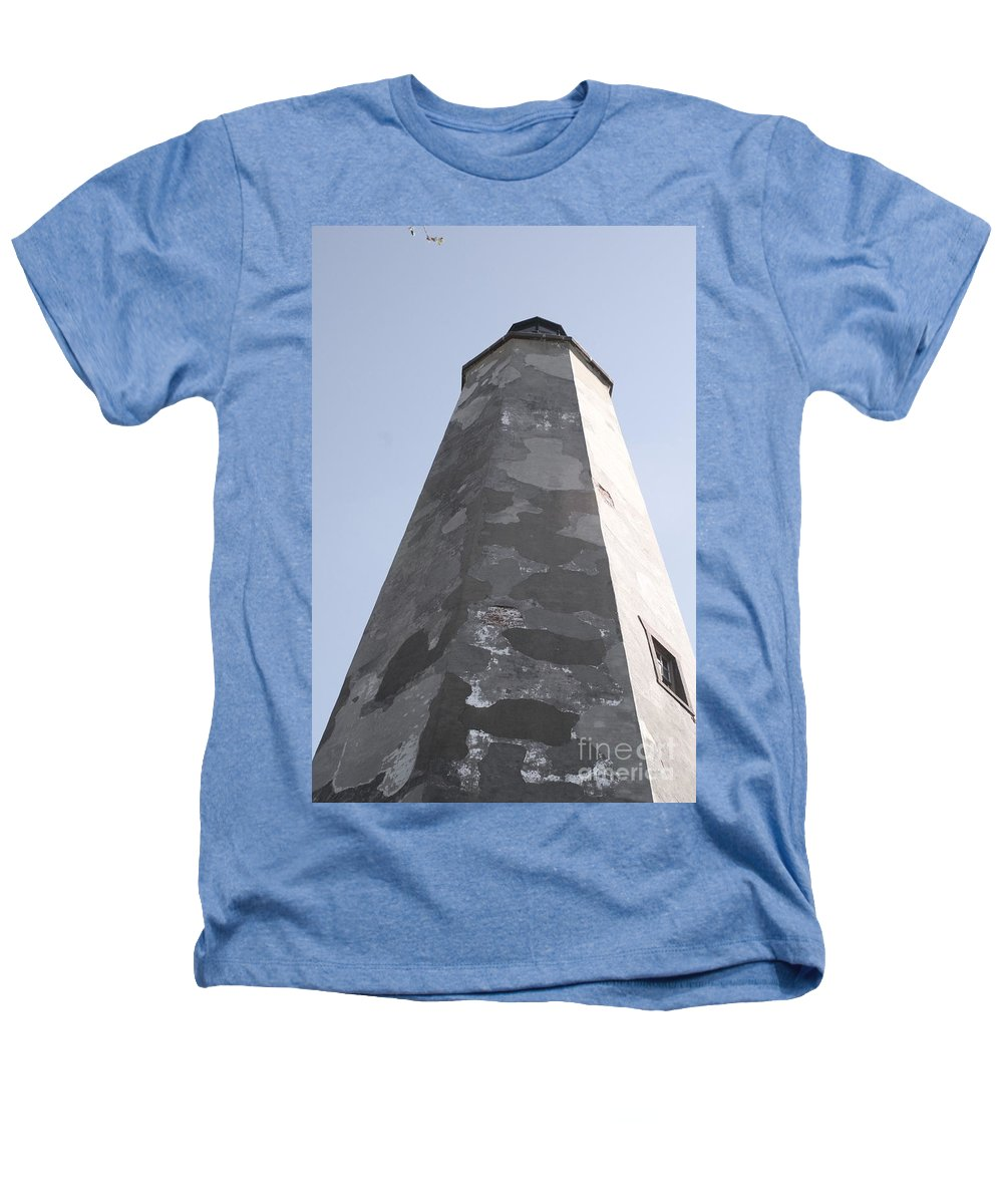 Lighthouse Heathers T-Shirt featuring the photograph Old Baldy Lighthouse Nc by Nadine Rippelmeyer