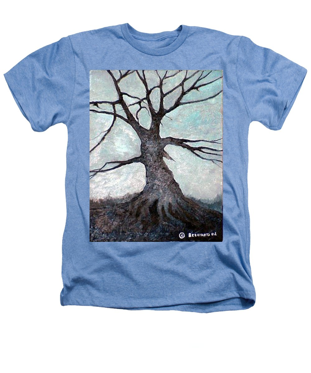 Landscape Heathers T-Shirt featuring the painting Old Tree by Sergey Bezhinets