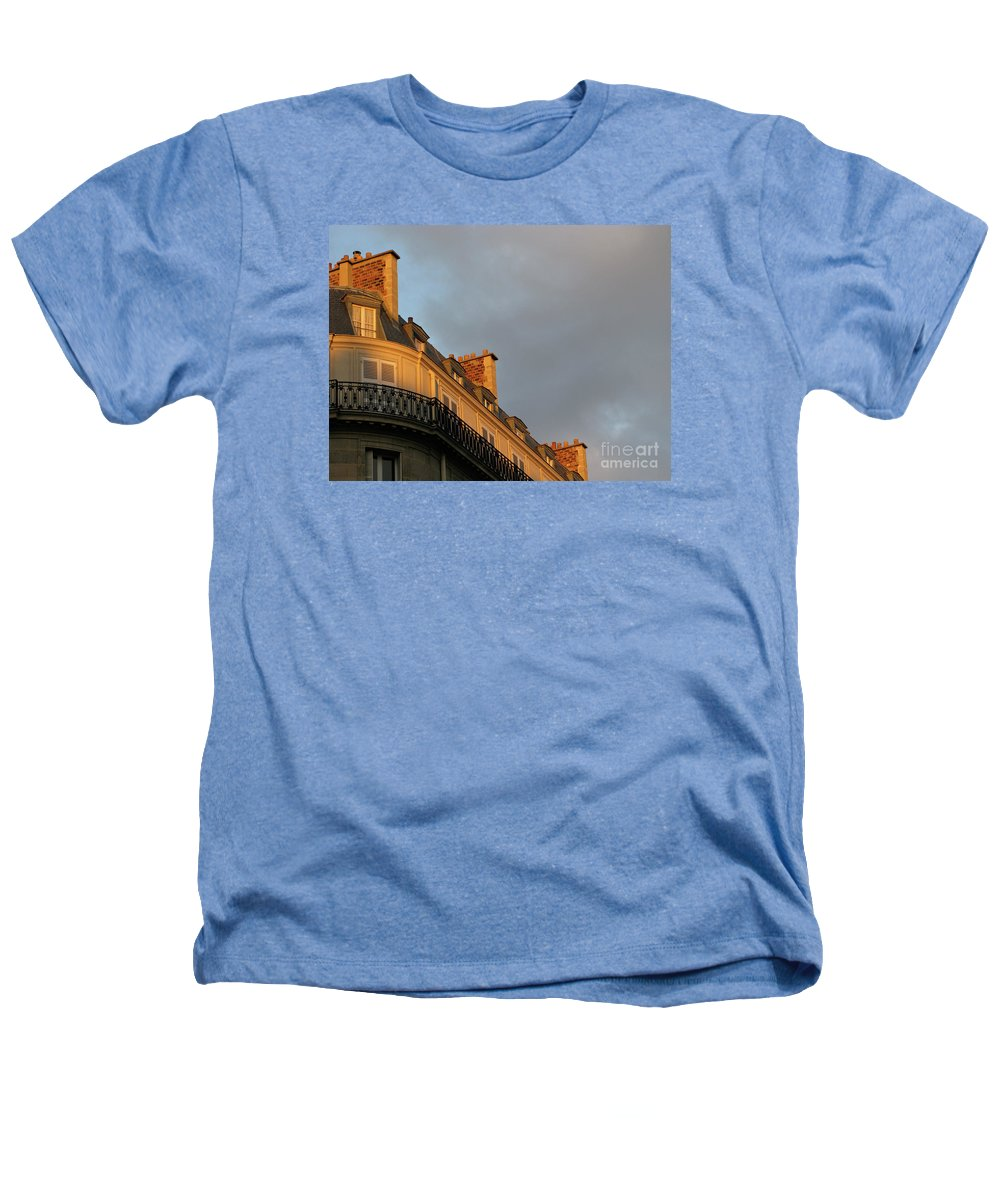 Paris Heathers T-Shirt featuring the photograph Paris At Sunset by Ann Horn