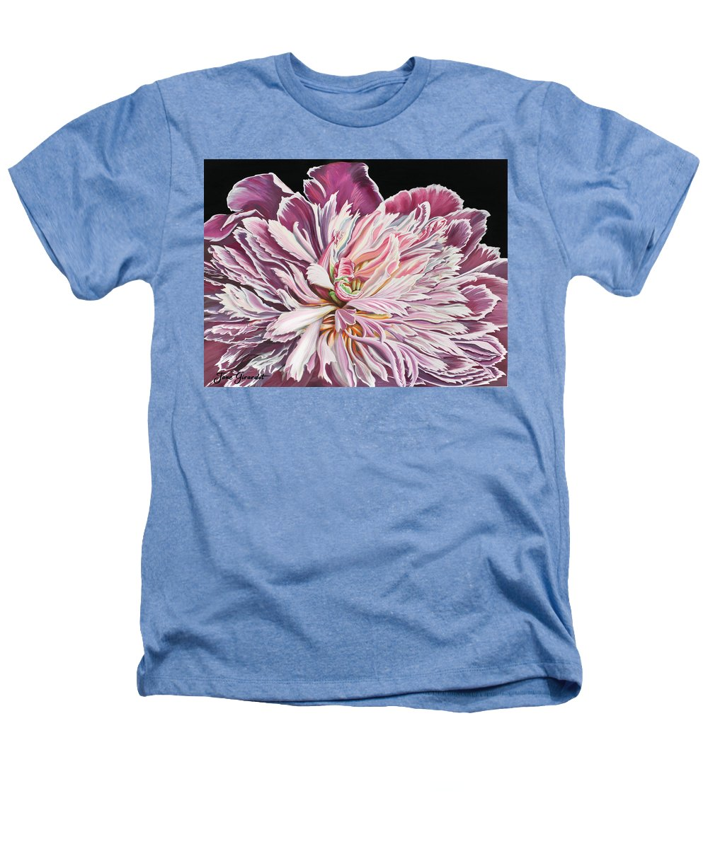 Flower Heathers T-Shirt featuring the painting Pink Peony by Jane Girardot