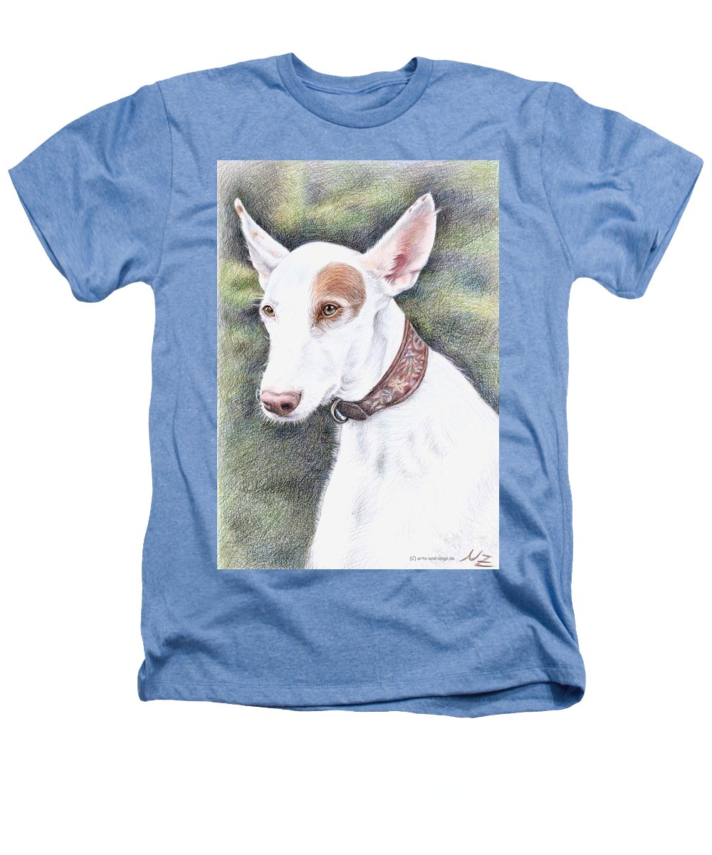 Dog Heathers T-Shirt featuring the drawing Podenco Ibicenco by Nicole Zeug