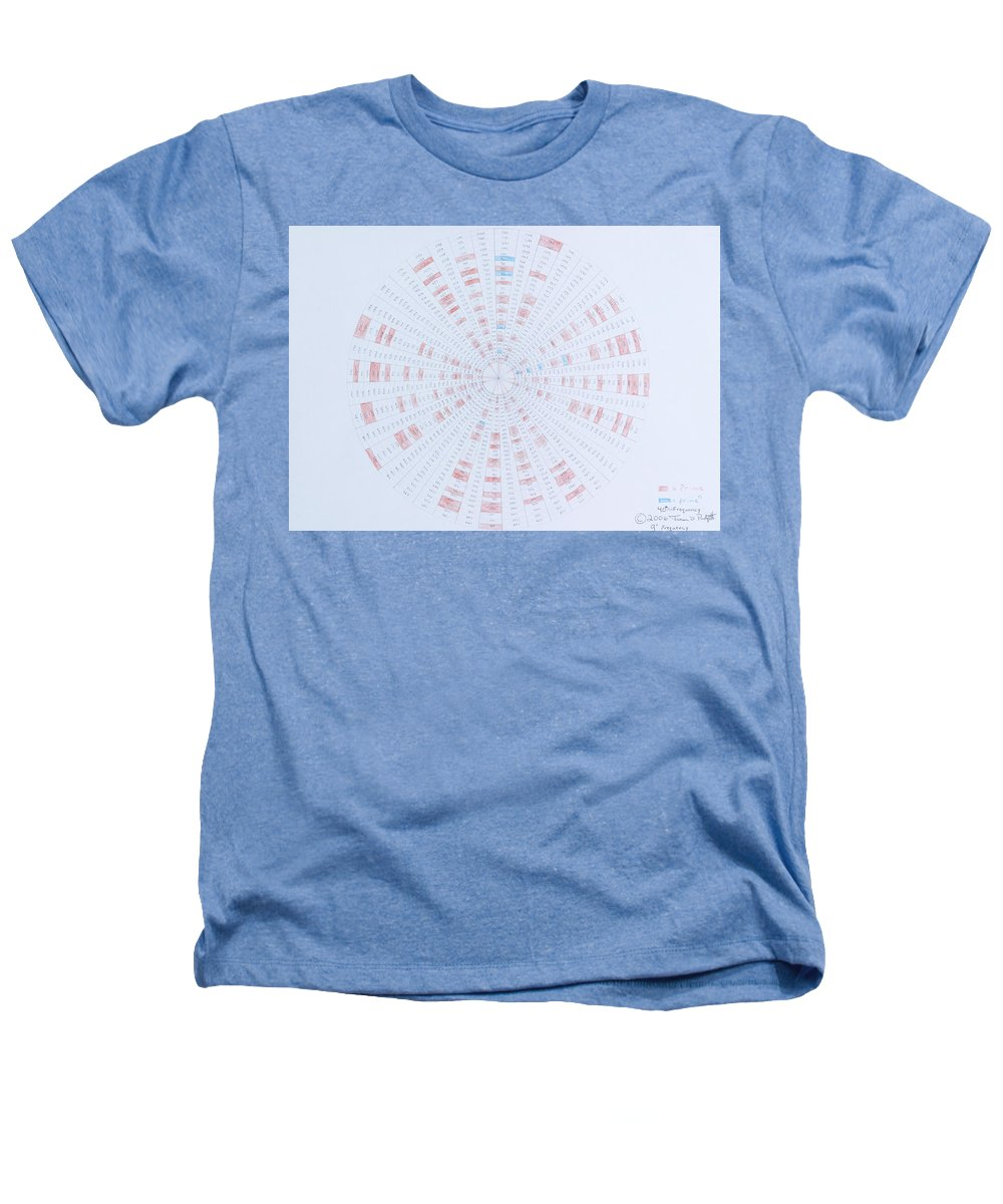 Prime Number Heathers T-Shirt featuring the drawing Prime Number Pattern P Mod 40 by Jason Padgett