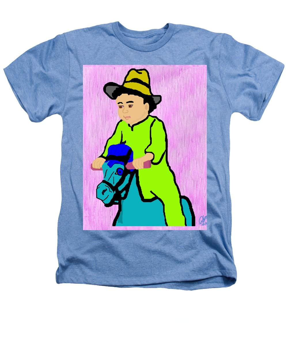 Toddler Heathers T-Shirt featuring the drawing Ride The Horsey by Pharris Art