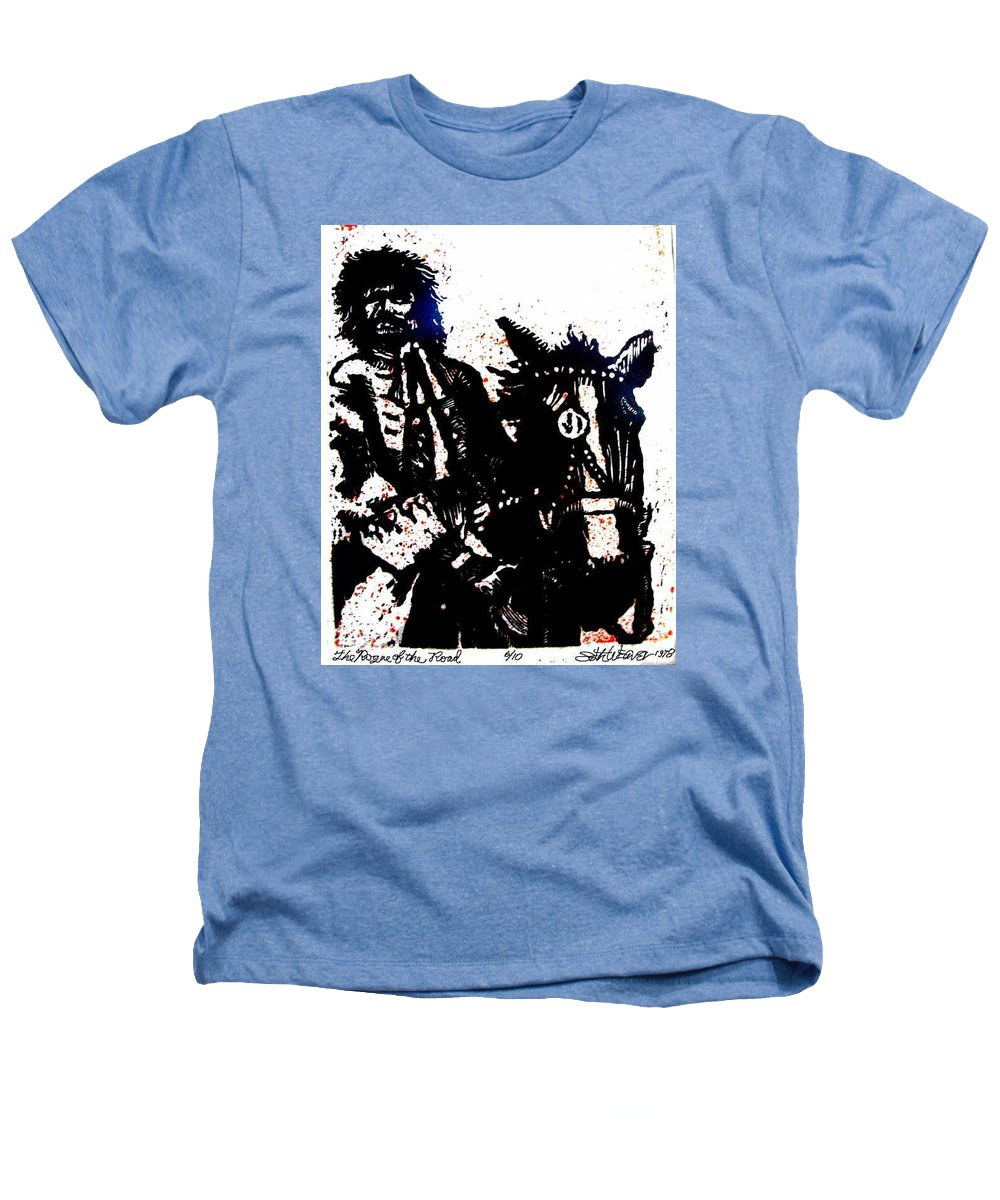 English Highwayman Heathers T-Shirt featuring the mixed media Rogue Of The Road by Seth Weaver
