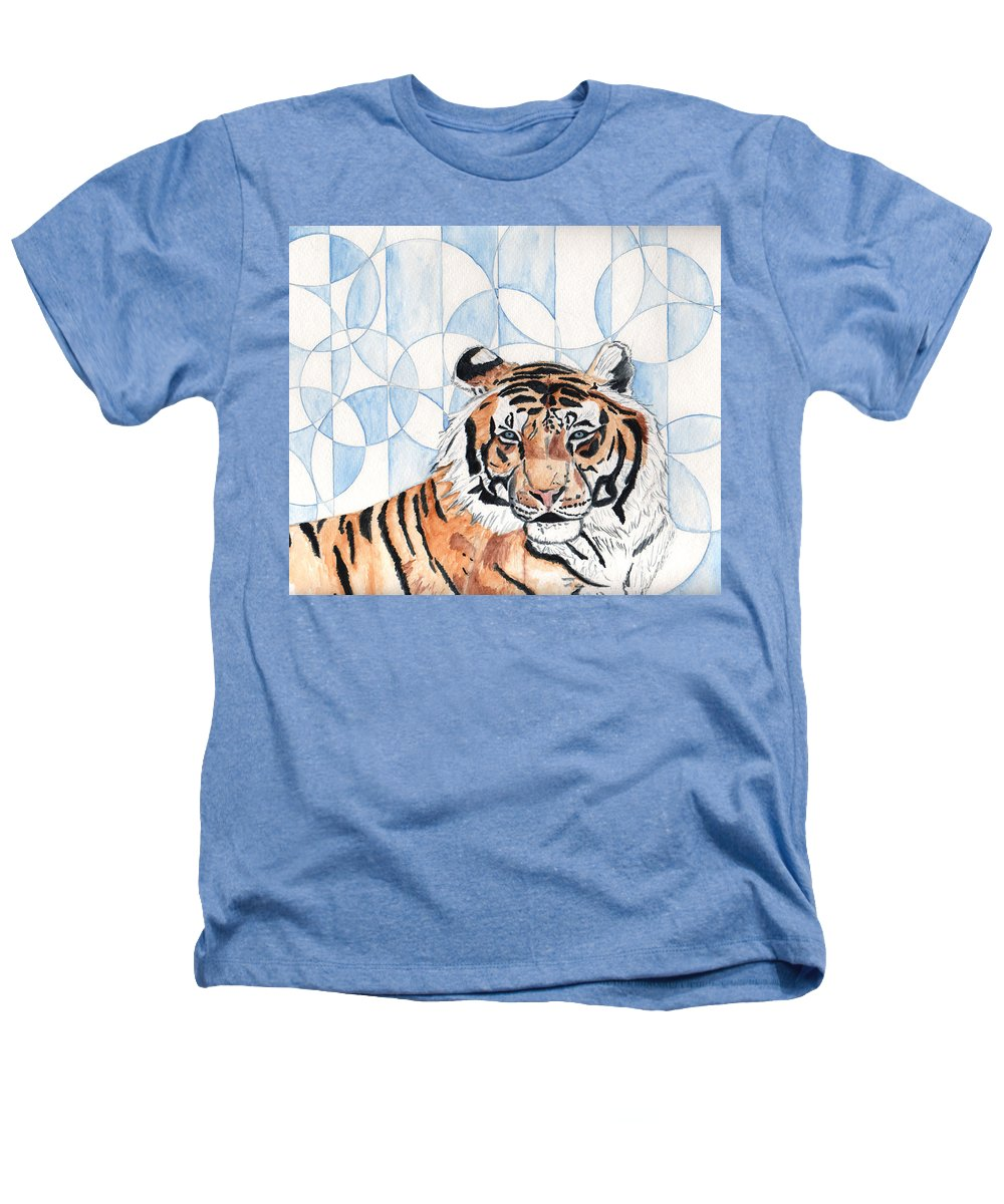 Tiger Heathers T-Shirt featuring the painting Royal Mysticism by Crystal Hubbard