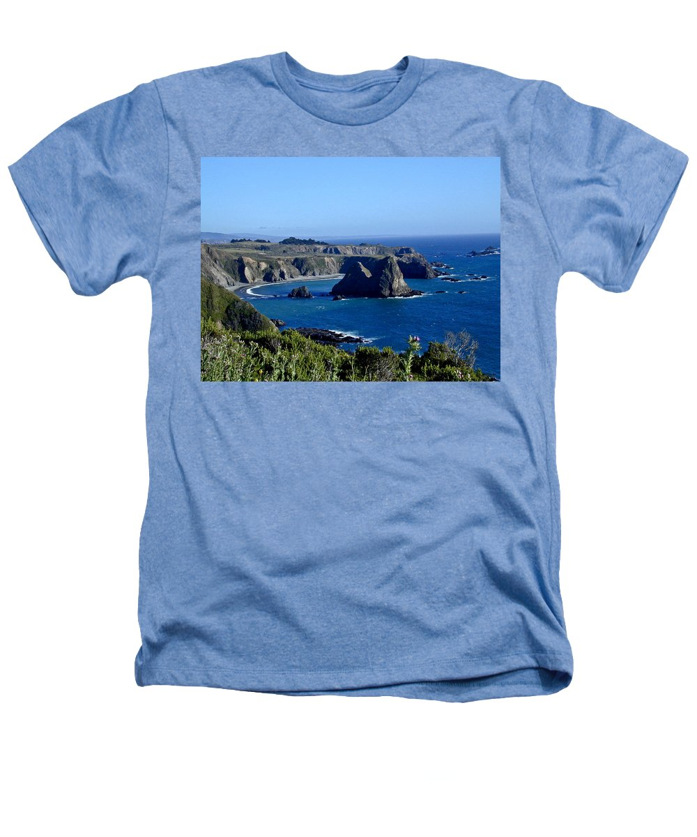 Sea Heathers T-Shirt featuring the photograph Sea Coast Of Northern California by Douglas Barnett