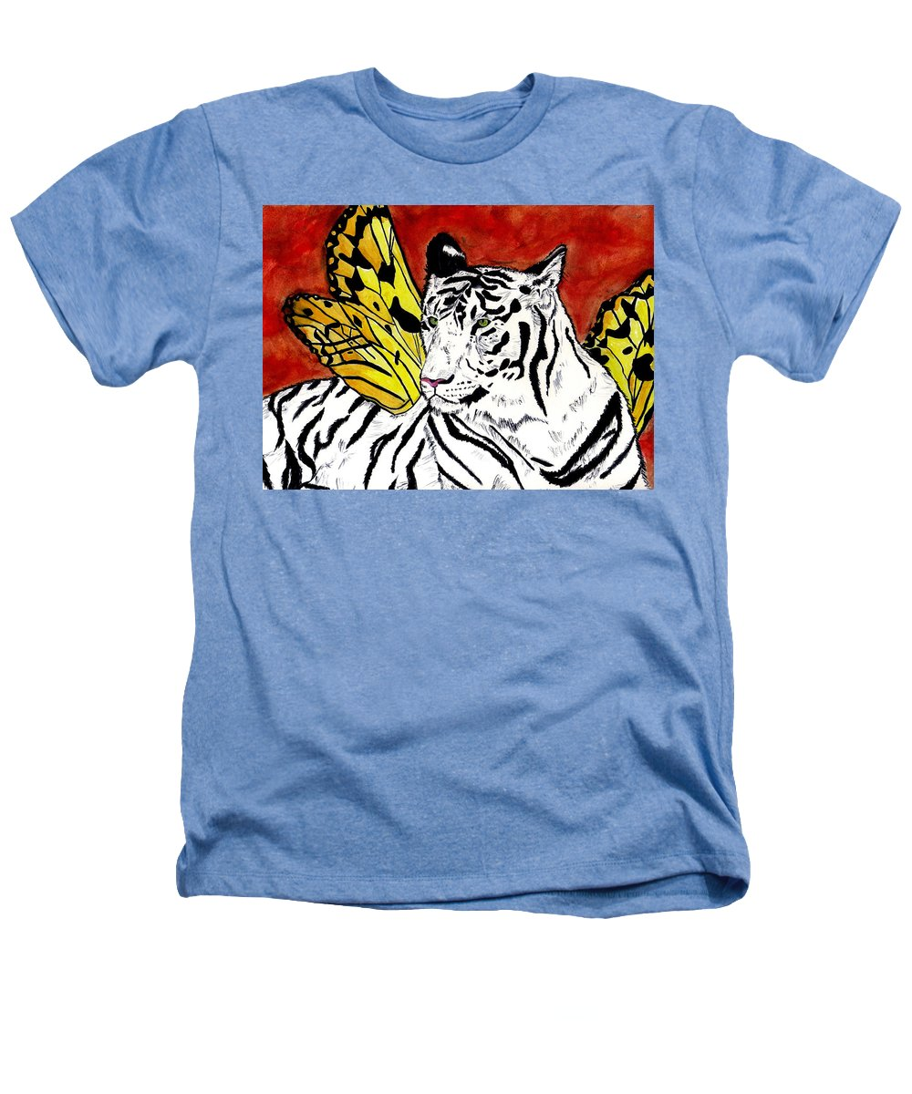 Tiger Heathers T-Shirt featuring the painting Soul Rhapsody by Crystal Hubbard