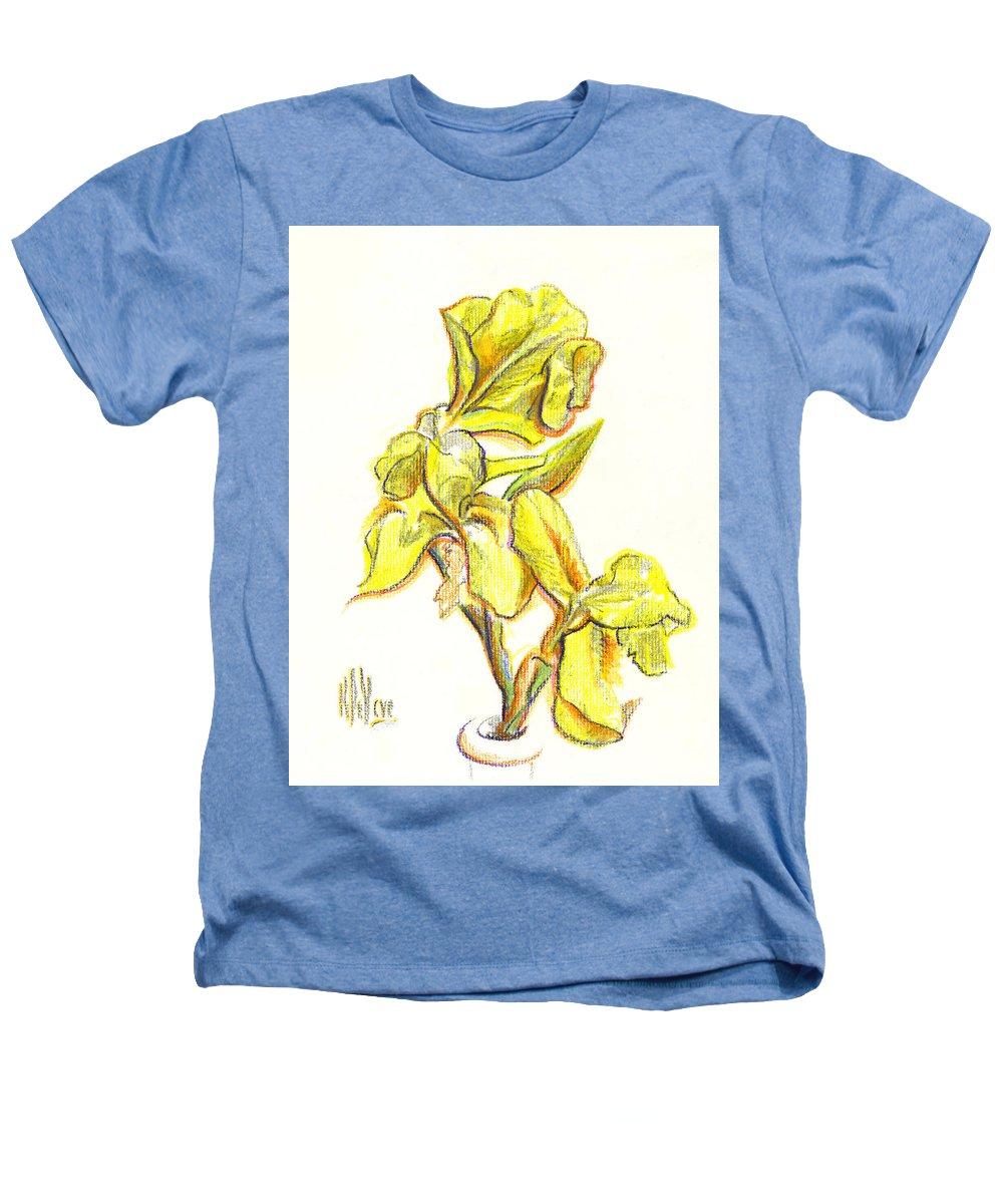 Spanish Irises Heathers T-Shirt featuring the painting Spanish Irises by Kip DeVore