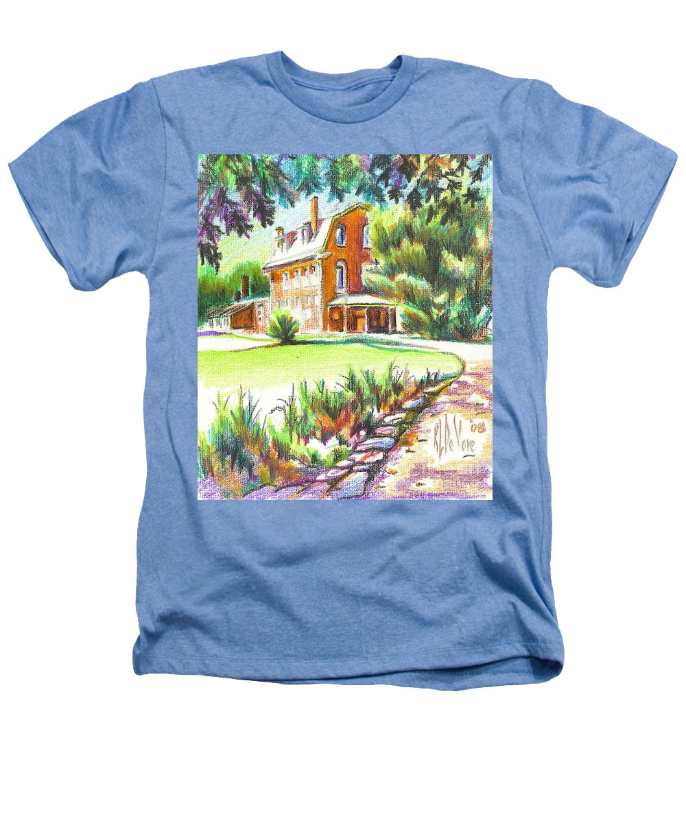Summertime At Ursuline No C101 Heathers T-Shirt featuring the painting Summertime At Ursuline No C101 by Kip DeVore