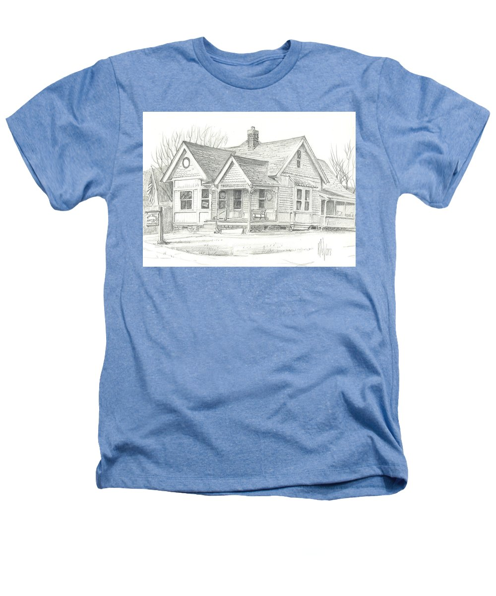 The Antique Shop Heathers T-Shirt featuring the drawing The Antique Shop by Kip DeVore