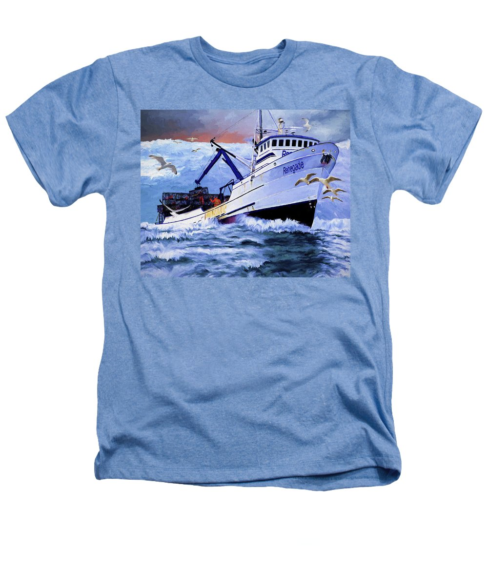 Alaskan King Crabber Heathers T-Shirt featuring the painting Time To Go Home by David Wagner